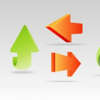 7 3D Arrow Icons