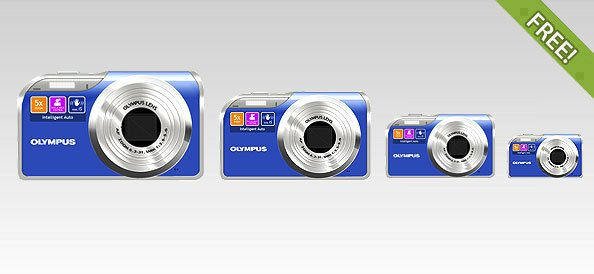 Free Full Layered Olympus Digital Camera Icon
