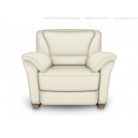 PSD Red And White Leather Armchair, Interior Icon