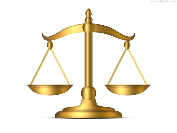 Gold Weight Scales Icon