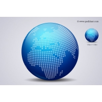 Glossy World Globe Icon