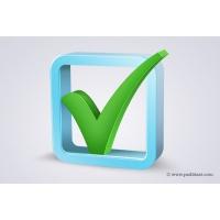 3d Check Box Icon