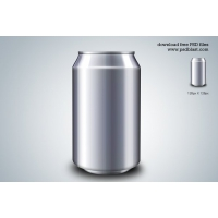 Energy Drink Can PSD Template