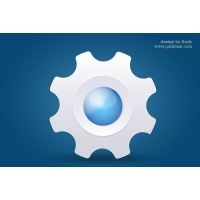 Glossy System Icon PSD