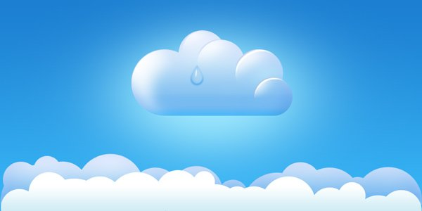 Cloud Icon & Borders PSD