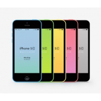 iPhone 5C Psd Vector Mockup