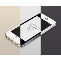 3D View iPhone 5S Psd Vector Mockup