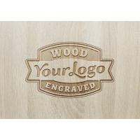 Wood Engraved Logo MockUp #2