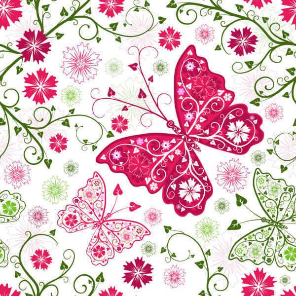 Butterfly Pattern Background