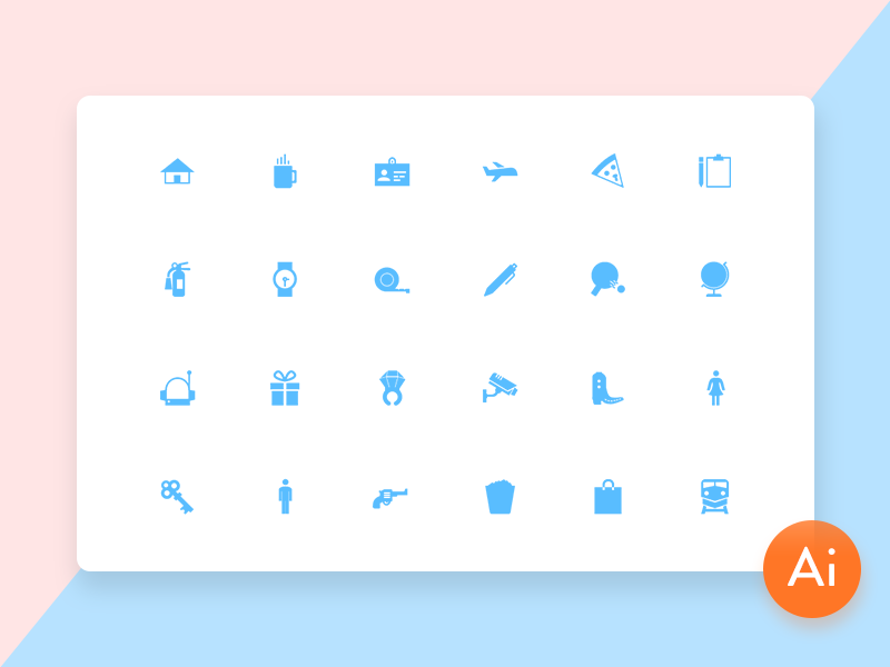 Mini Material Free Icon Set