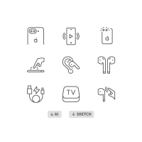 60 Free icons: iPhone 7, AirPods Icons