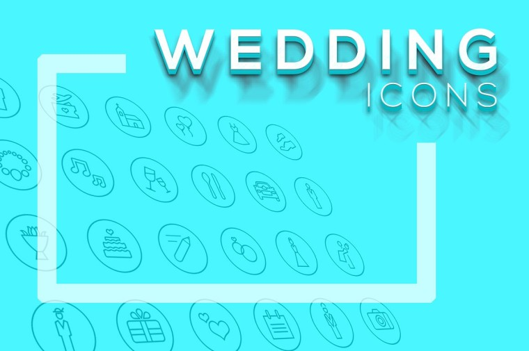 WEDDING ICONS FREEBIE
