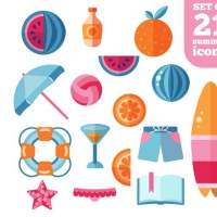 TRENDY SUMMER BEACH ICONS