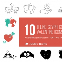 10 FREE ROMANTIC ICONS