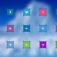 UNIQUE SOCIAL MEDIA ICONS