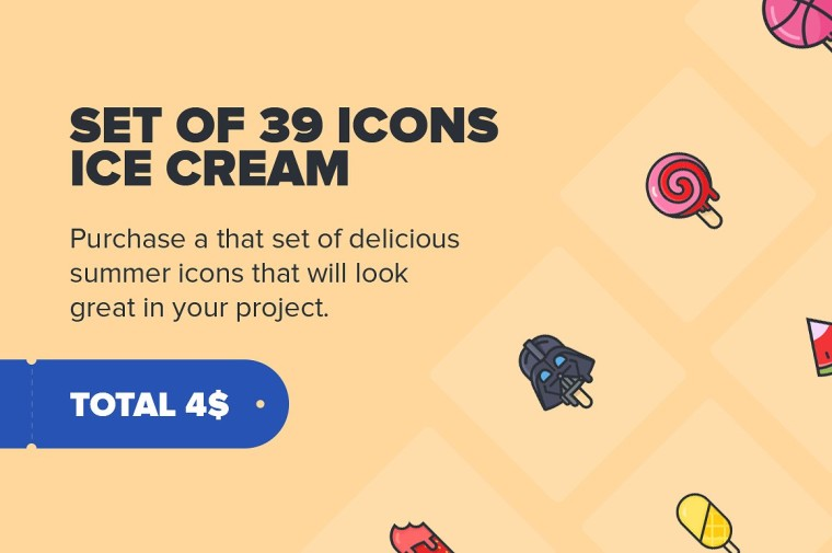 ICE CREAM ICONS FREEBIE