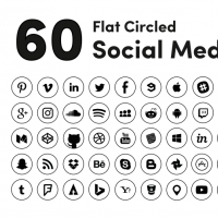 BLACK CIRCLED SOCIAL MEDIA ICON