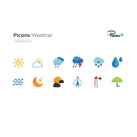 12 PICONS WEATHER ICONS