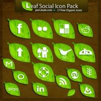 FREE LEAF SOCIAL ICONS