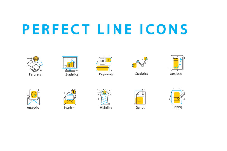 10 FREE PERFECT LINE ICONS
