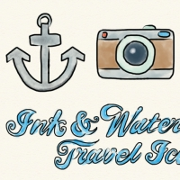 INK AND WATERCOLOR TRAVEL ICONS