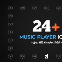MUSIC PLAYER ICONS FREEBIE