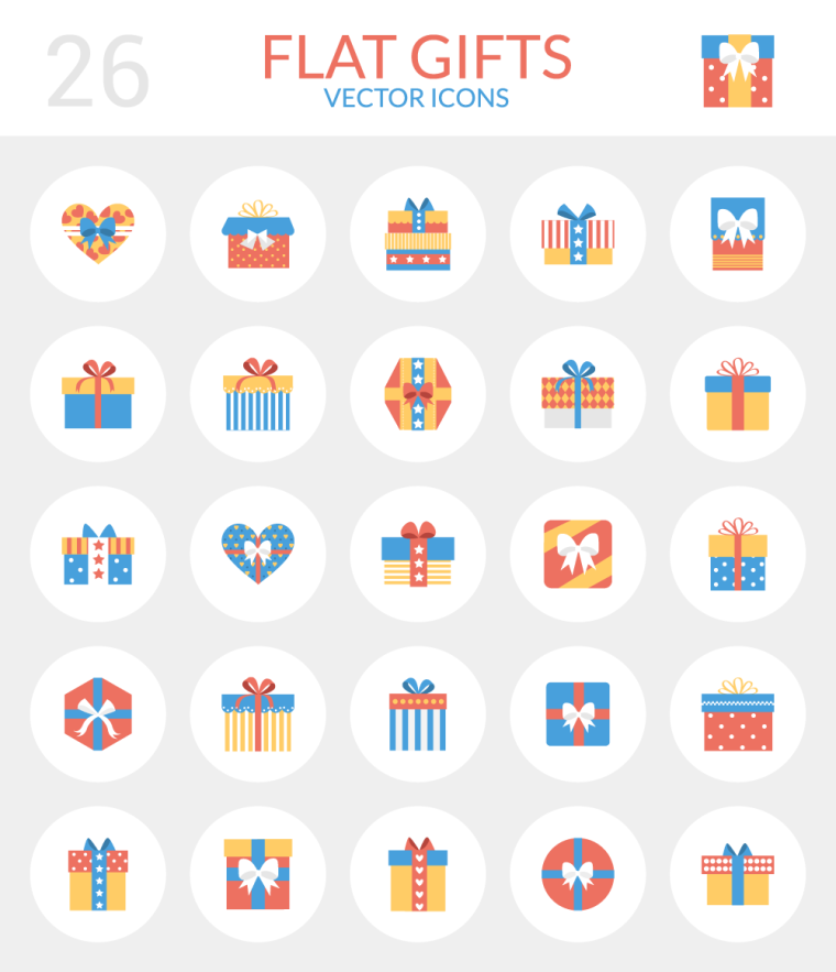 26 FREE GIFT ICONS