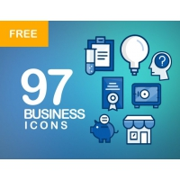 97 BUSINESS ICONS BUNDLE