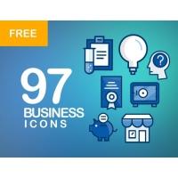 97 BUSINESS ICONS BUNDLE