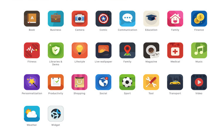 FREE APPSTORE CATEGORY ICONS