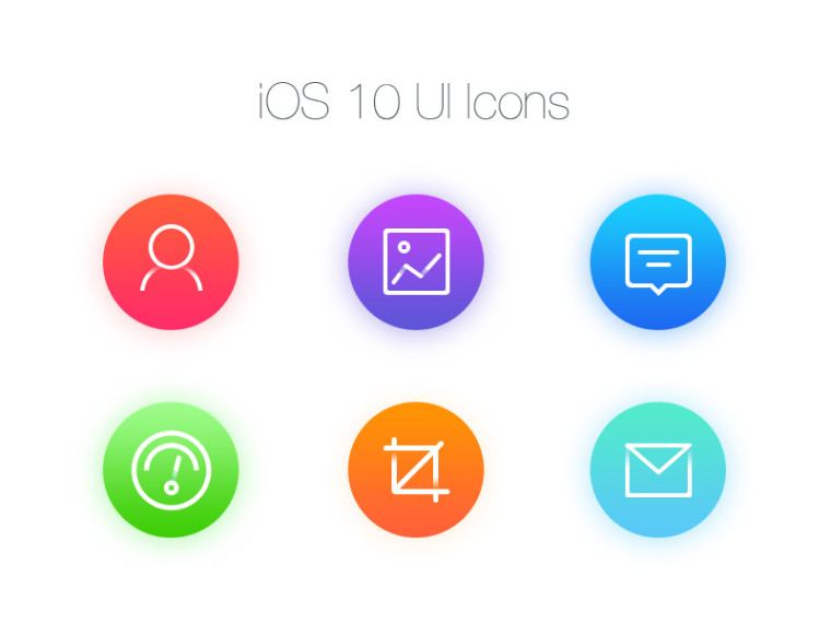 FREE IOS 10 UI ICONS