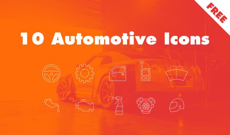 10 FREE AUTOMOTIVE ICONS