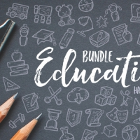 EDUCATION HAND DRAWN ICONS BUNDLE
