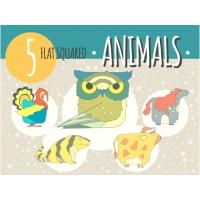 5 HAND DRAWN ANIMAL ICONS