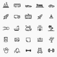 MODERN OUTLINE ICONS BUNDLE