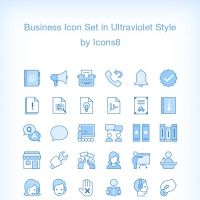 Ultraviolet: 60 Business Icons