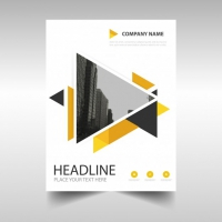 Creative Business Brochure With Triangles