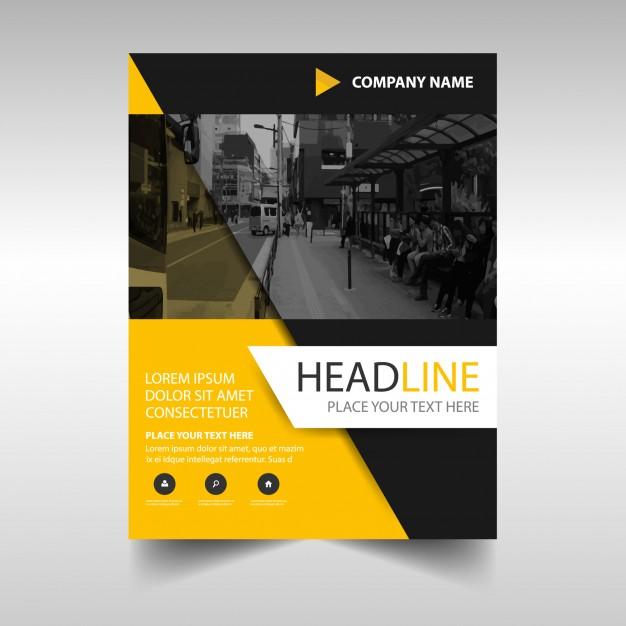 Elegant Yellow And Black Brochure