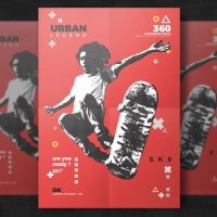 Skateboard Flyer Template
