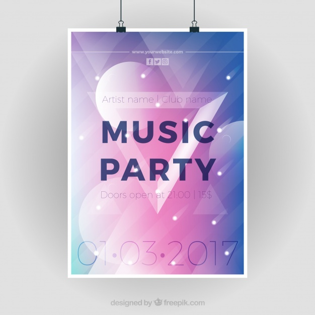 Modern Party Poster