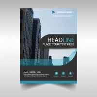Light Blue Abstract Corporate Annual Report Template