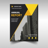 Abstract Yellow Professional Annual Report Template