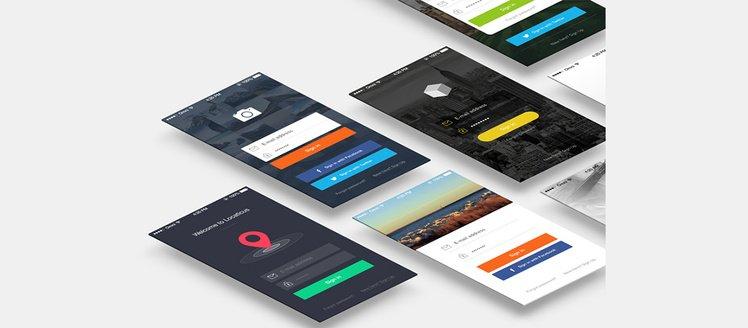 7 iPhone 5 Signin / Login Screens