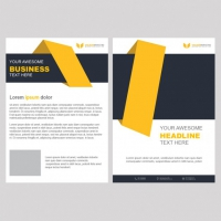 Yellow Business Brochure Template