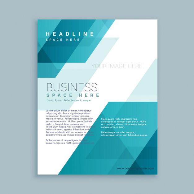 Polygonal Shapes Corporative Brochure template