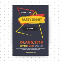 Party poster template Design