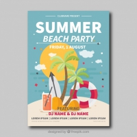 Beach Party Card