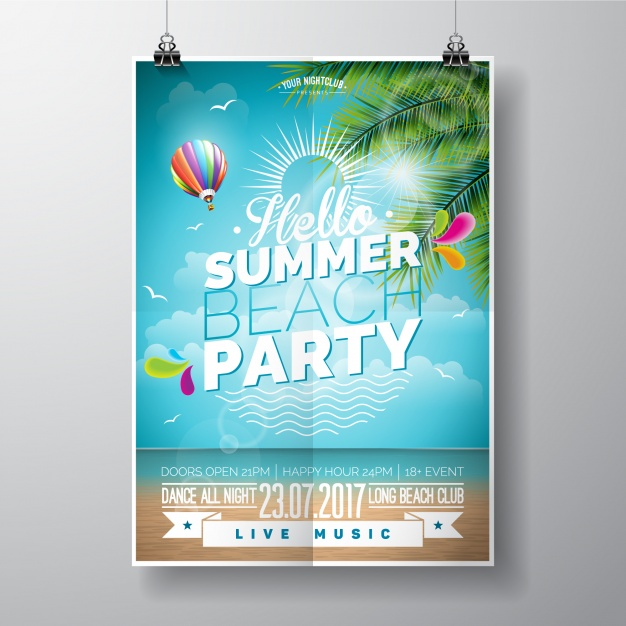 Summer Beach Party Poster