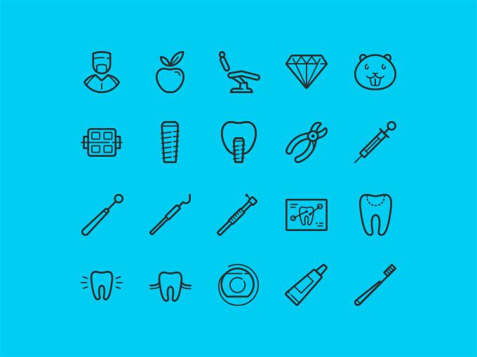 20 Free Dental Icons
