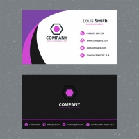 Purple Business Card Template